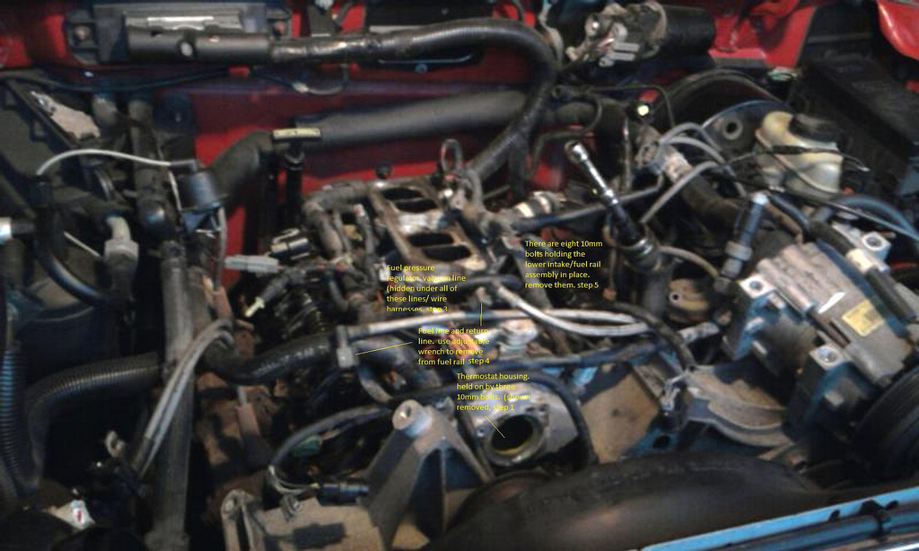 ford explorer 4 0 engine diagram how to replace valve cover gaskets fuel rail gaskets #5