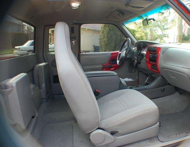 The Seats And Center Console Are From A Ford Explorer Door Panels Radio Bezel Were Painted Red To Match Exterior