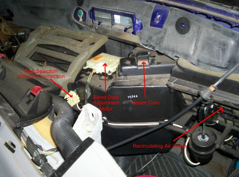 99 f150 fuse panel diagram heater blend door repair on the 1993 1997 ford ranger 05 f150 fuse panel diagram