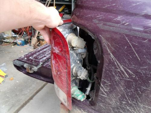 You Ll Also Have To File Out A Section So The Locking Tab On Bulb Housing Will Lock In Taillight