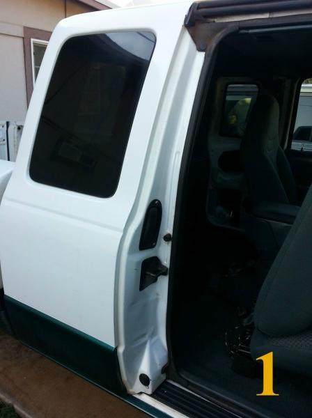 TRS Magazine - Ford Ranger - Opening A Stuck Rear Door