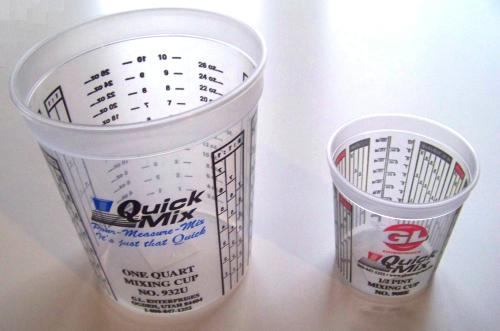 paint mixing ratio chart: Mixing paint measuring parts