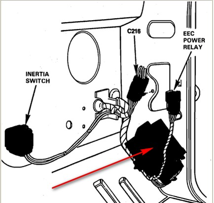 Ford Ranger Fuel Inertia Switch