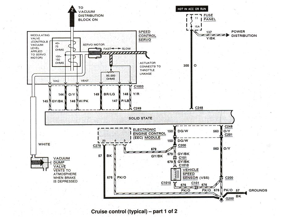 Diagram_Cruisecontrol_1of2 ford ranger & bronco ii electrical diagrams at the ranger station ford cruise control wiring diagram at gsmx.co