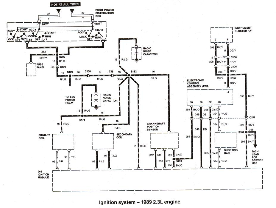ford ranger bronco ii electrical diagrams at the ranger station rh therangerstation com 1985 Ford Ranger Wiring Diagram 89 ford bronco 2 wiring diagram