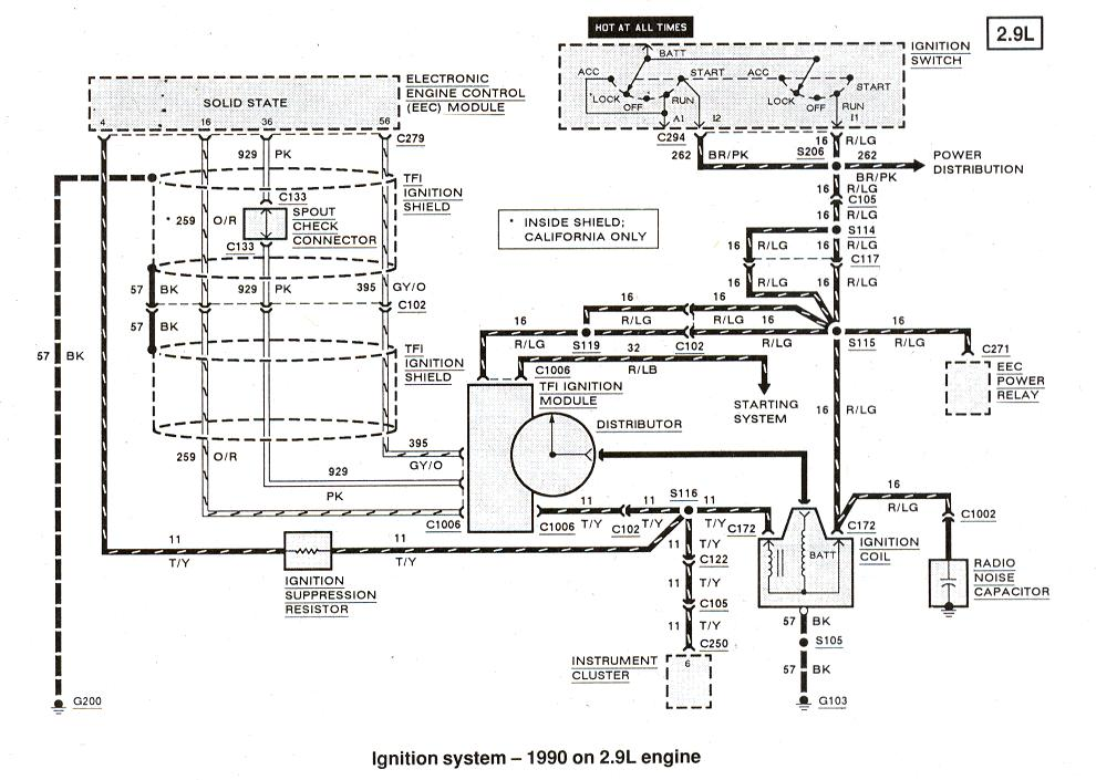 ford ranger amp bronco ii electrical diagrams at the ranger 1990 bronco wiring diagram charging system #1