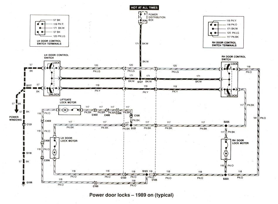 Diagram_Powerdoorlocks_1989on ford ranger wiring by color 1983 1991 Ford F-250 Wiring Diagram at pacquiaovsvargaslive.co