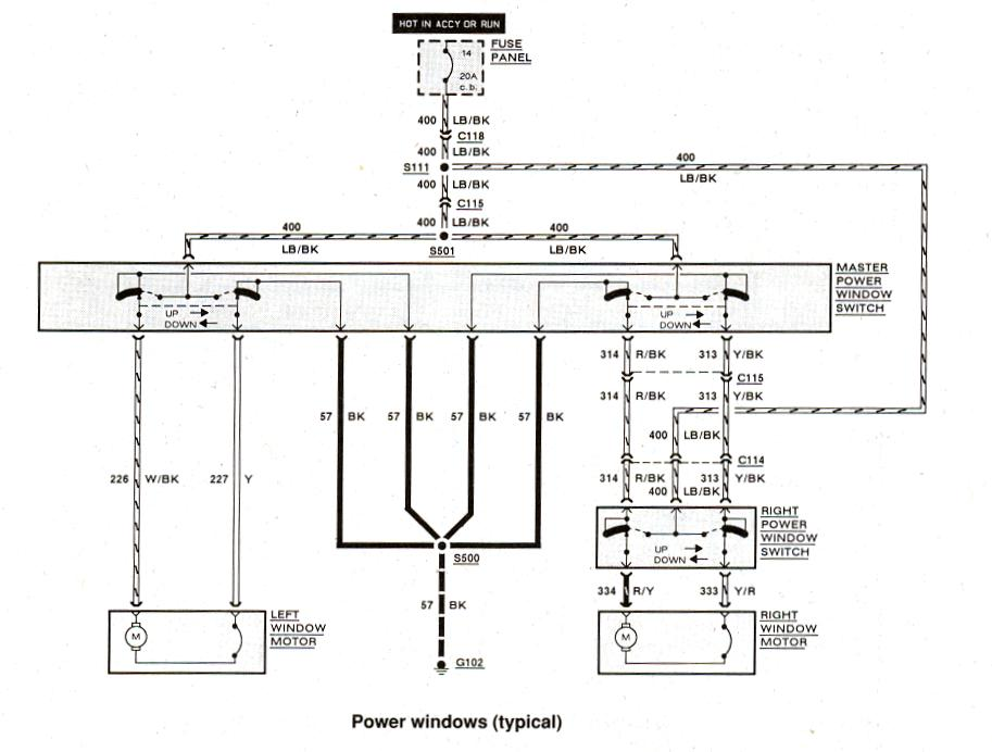 Diagram_Powerwindows ford f350 abs wiring harness ford wiring diagrams for diy car 1999 ford ranger ignition wiring diagram at webbmarketing.co
