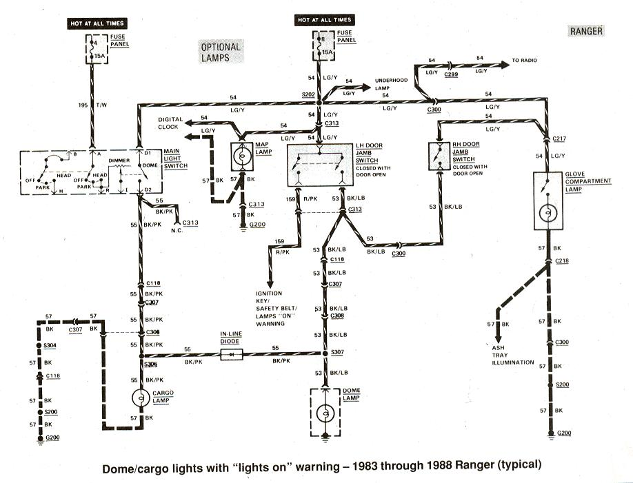 dome light wiring diagram mustang 1994