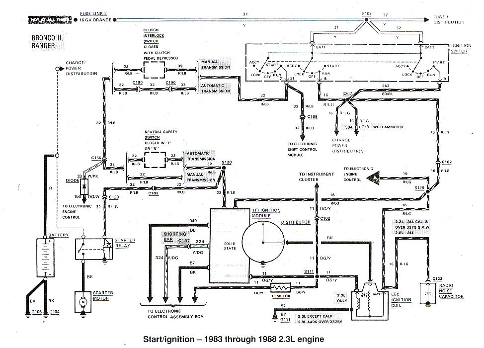 Diagrams_StartIgnition83to88_2_3 88 ford ranger wiring diagram detailed schematics diagram