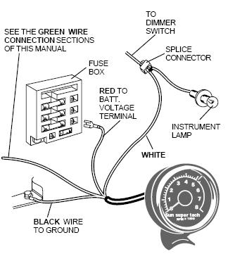 sun super tach wiring wiring diagram u2022 rh tinyforge co Johnson Outboard Tachometer Wiring Diagram GM Tachometer Wiring Diagram