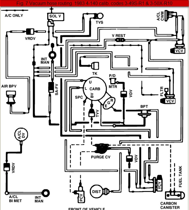 2001 Ford Taurus Vacuum Hose Diagram
