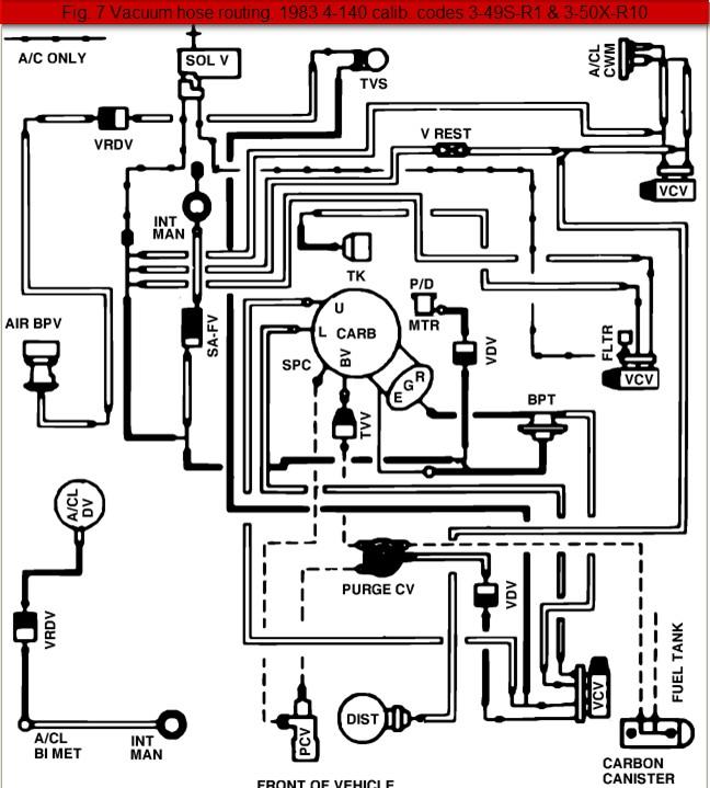 1984 ford f 150 vacuum diagram 2004 ford f 150 vacuum diagram 1984 ford ranger 2.3-liter 4-cylinder vacuum line diagram