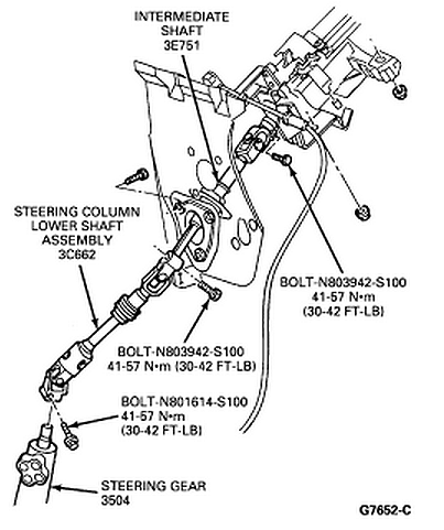 1989 1994_intermediate_steering_shaft ford ranger steering shaft on ford exploded view diagrams
