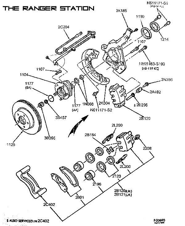 ford f 150 rear parking brake diagram
