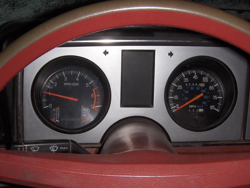 1983 1986 ford ranger gauge cluster with tach swap. Black Bedroom Furniture Sets. Home Design Ideas