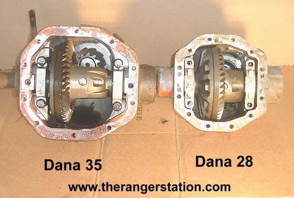 The Ford Ranger Dana 28 & Dana 35 Front 4x4 Axle