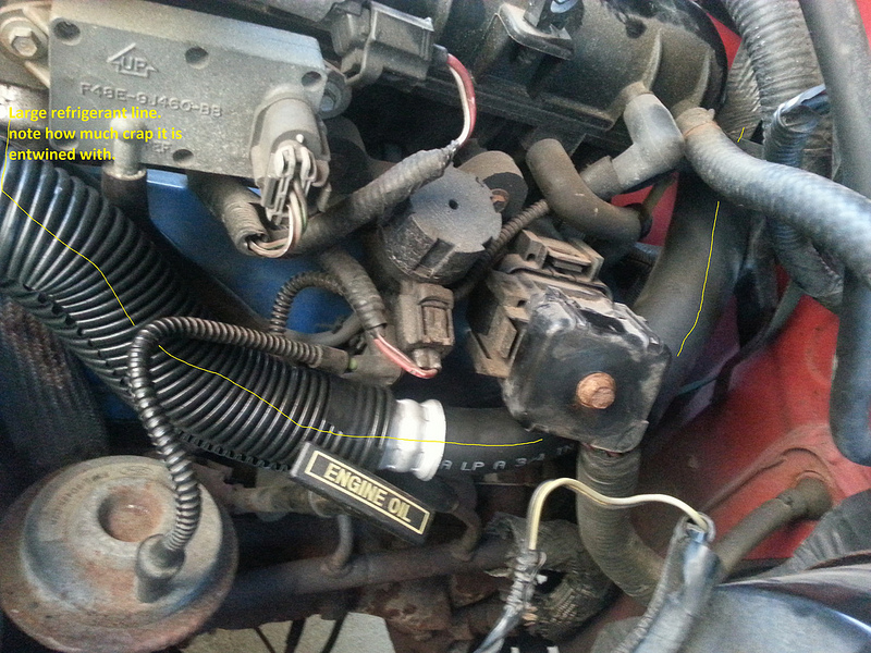 Ac on Ford Oil Pressure Switch Location