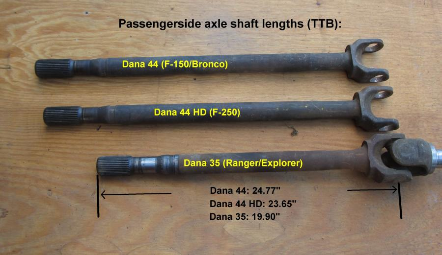 Ford Ranger Dana 44 TTB Conversion FAQ's : The Ranger Station