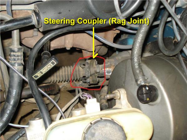Steering Coupler on 1992 Ford Ranger Engine Diagram