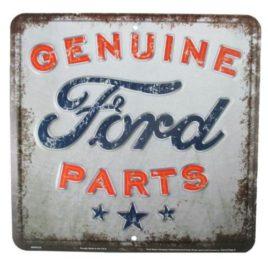 Genuine Ford Parts Nostalgia Metal Sign